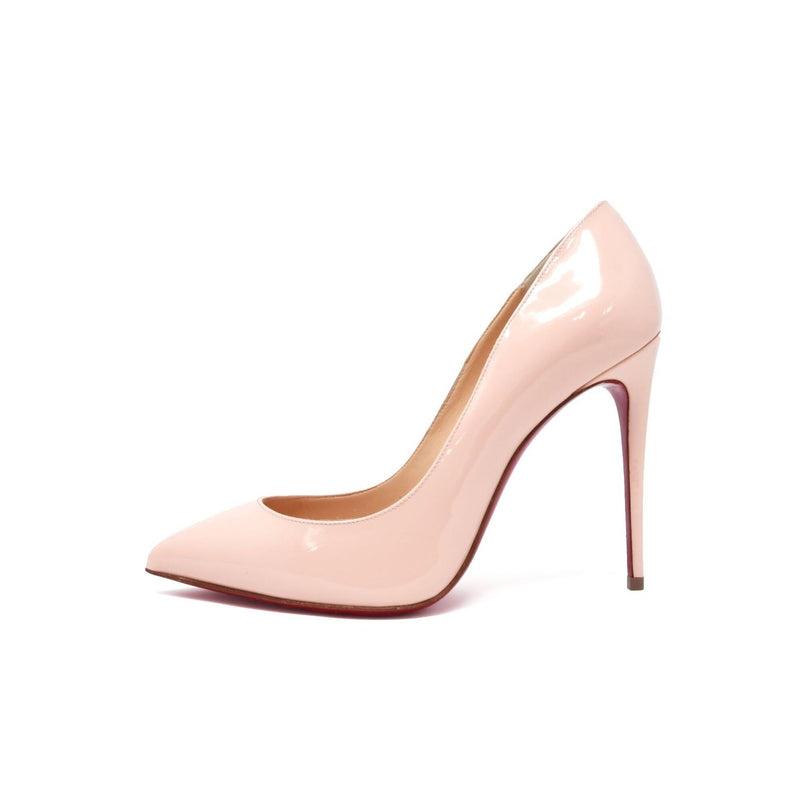 Christian Louboutin Stiletto in Light Peach Patent Leather