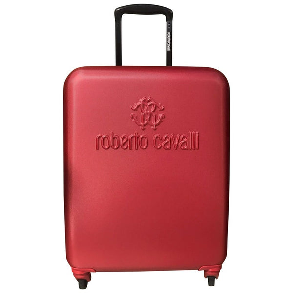 NEW ROBERTO CAVALLI FIBER SUITCASE in RED
