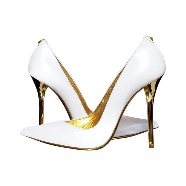 VERSACE VERSUS + Anthony Vaccarello White Leather Pumps 39 - 9