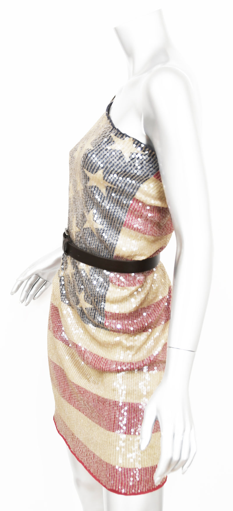 Dsquared2 Sequin American Flag Dress