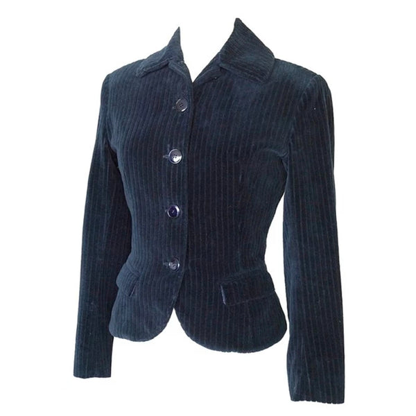 Azzedine Alaia jacket divine shaping pin stripe velvet 4