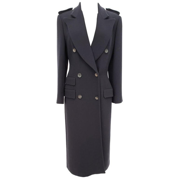 A/W 1996 COLLECTIBLE VINTAGE TOM FORD for GUCCI NAVY WOOL COAT