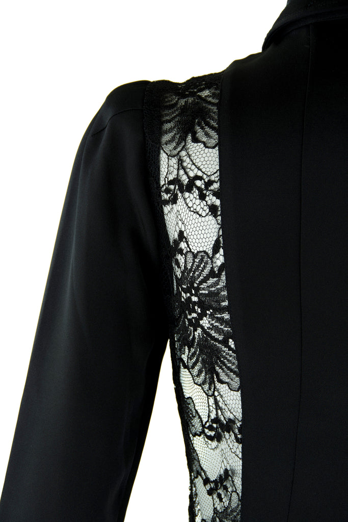 45e34314cde3 Agent Provocateur Three Quarter Sleeve Black Dress with Lace Inserts