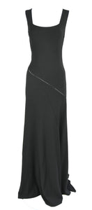 Azzedine Alaia Jet Black Sleeveless Gown, Medium