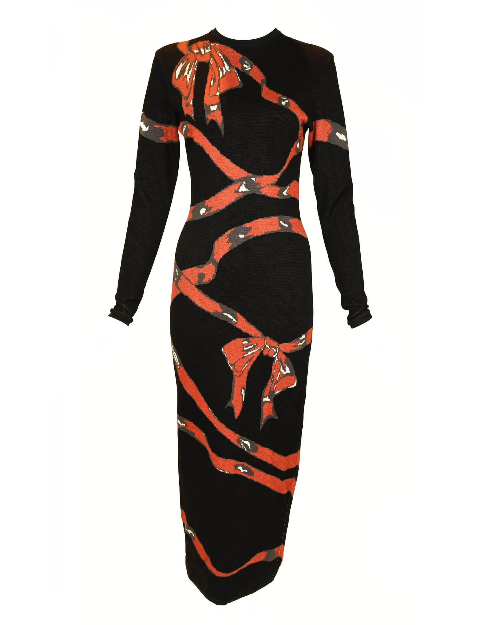Vintage Alaia Bow Print Dress