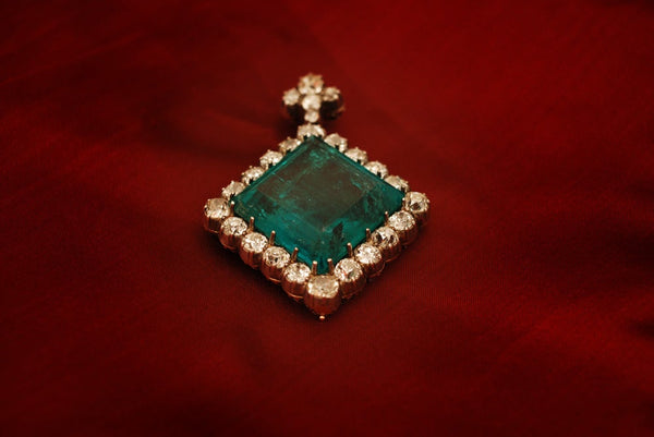 An Extraordinary Antique Colombian Emerald Pendant