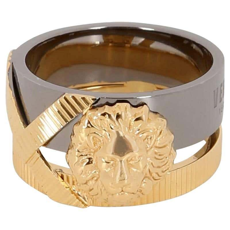 Anthony Vaccarello X Versus Versace lion ring for Women