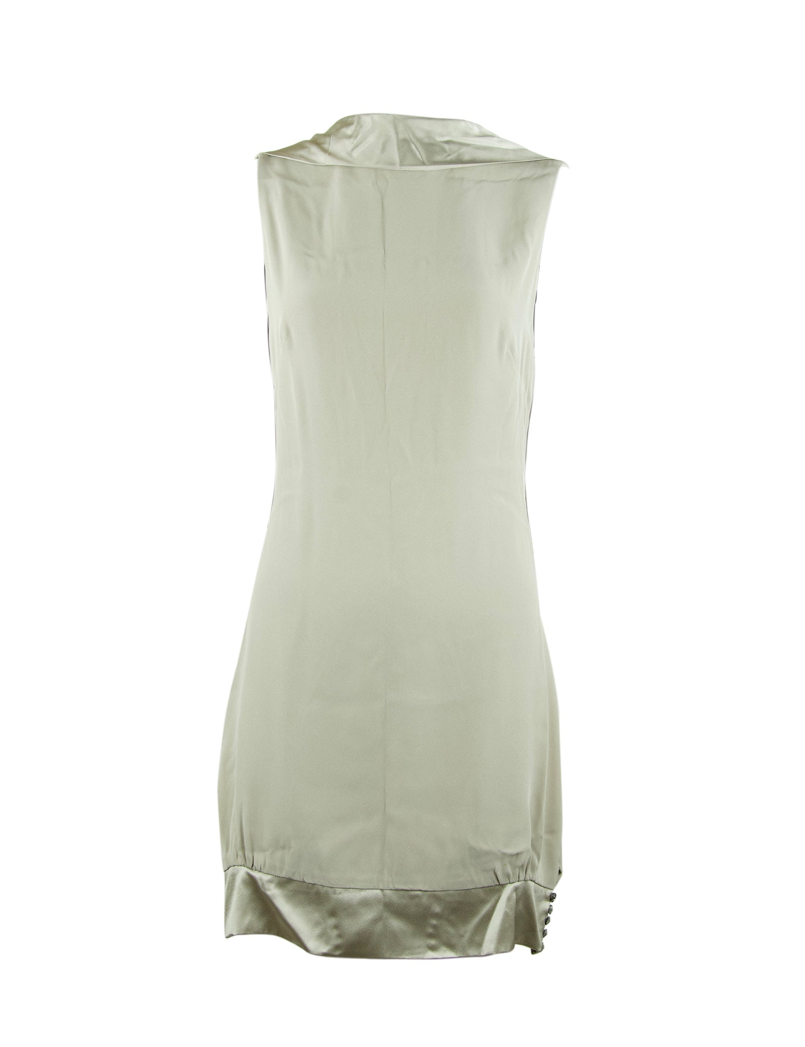 Azzaro Gray Silk Open Back Dress - Size S