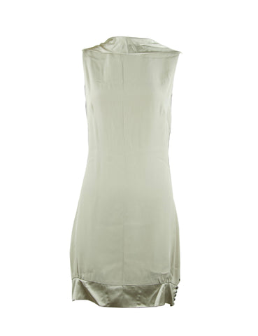Azzaro Gray Silk Open Back Dress
