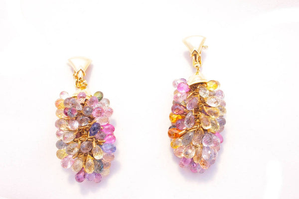 Bulgari Multicolor Sapphire Gold Earrings