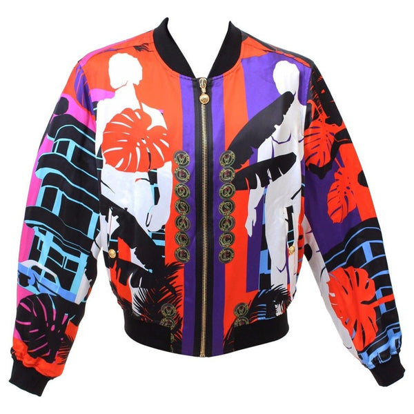 BRAND NEW VERSACE CUBA PRINT RED JACKET for MEN