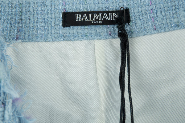 Balmain Tweed Fringe Shorts