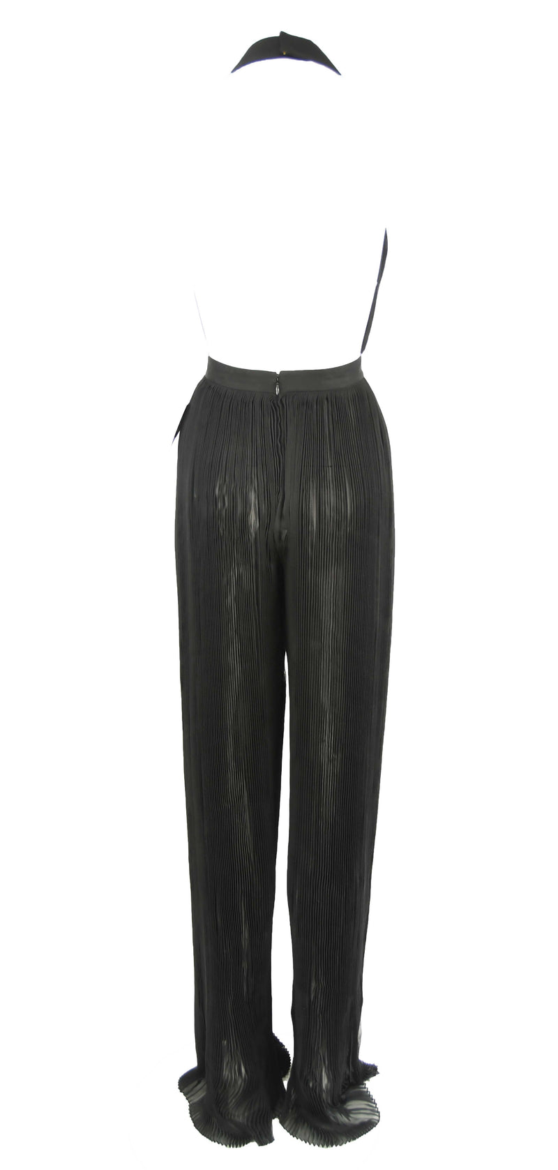 Balmain Black Pleated Jumpsuit