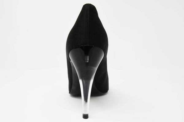 Chanel Black Satin Pumps with Gradient Lucite Heels