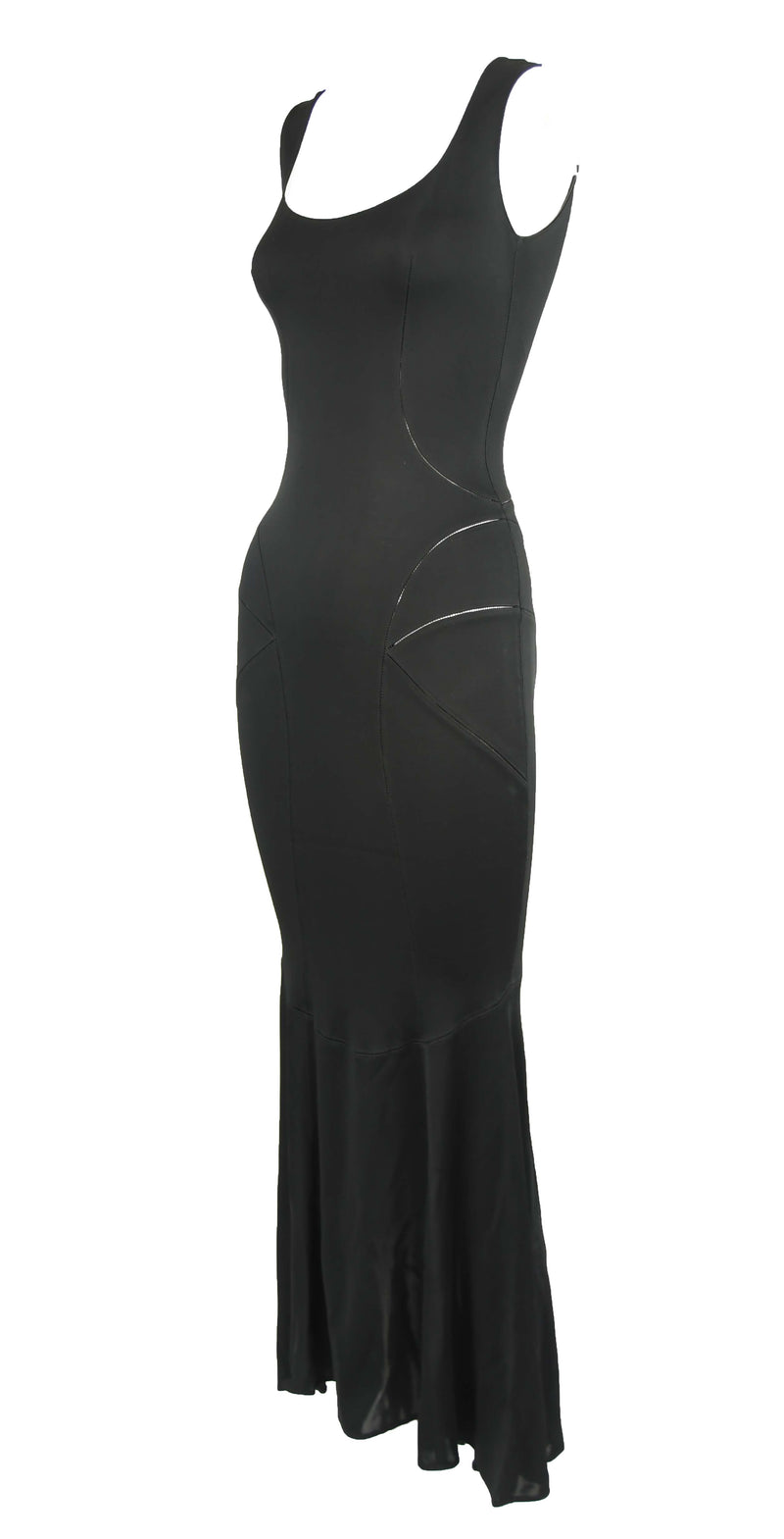 Vintage Alaia Black Tea Length Gown