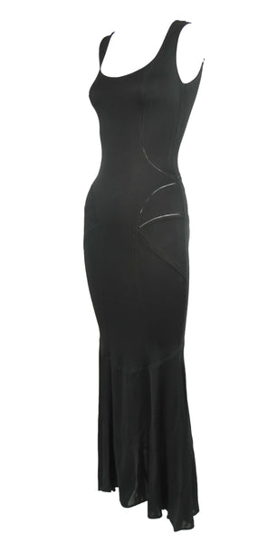 Vintage Alaia Black Tea Length Gown - Size S