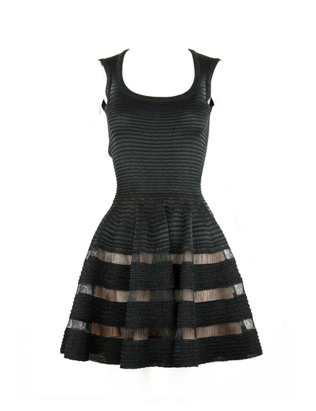 Alaia Sleeveless Black Fit & Flare Dress - Size FR 36