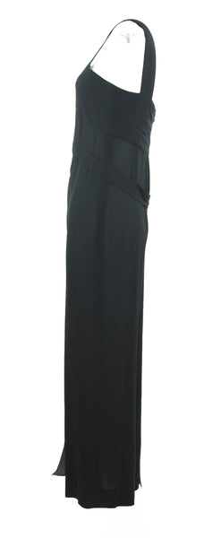 Chanel Black Sleeveless Silk Jumpsuit