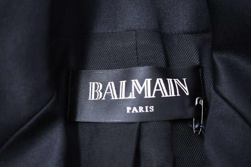 Balmain Black Wool Double Breasted Blazer