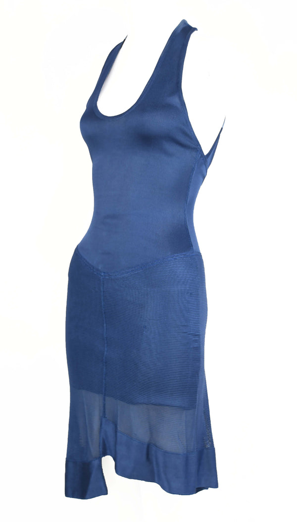 Vintage Alaia Blue Knit Dress