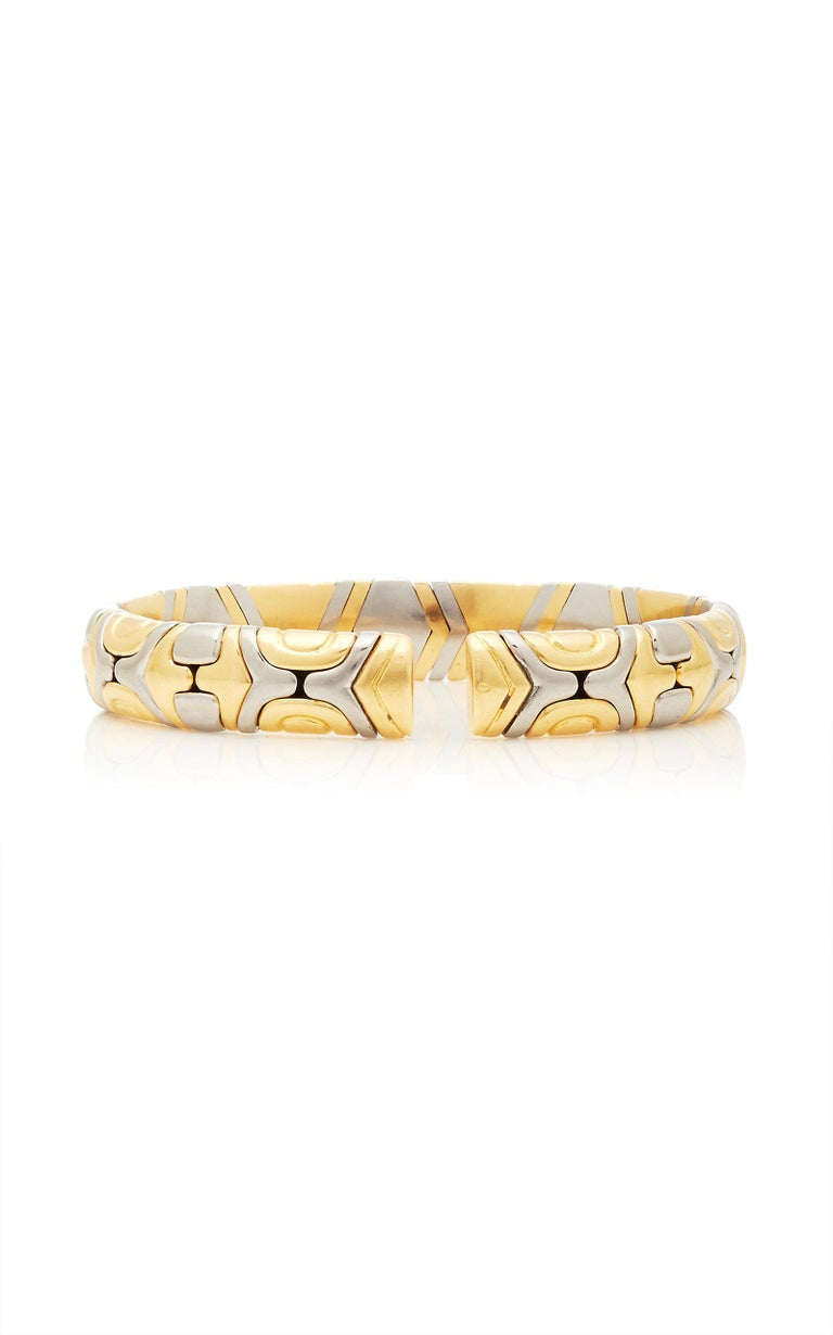 Bulgari Gold Steel Parenthesis Bracelet