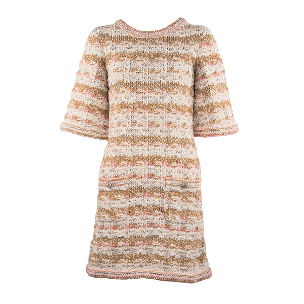 Chanel Resort 2015 Multicolored Woven Shift Dress