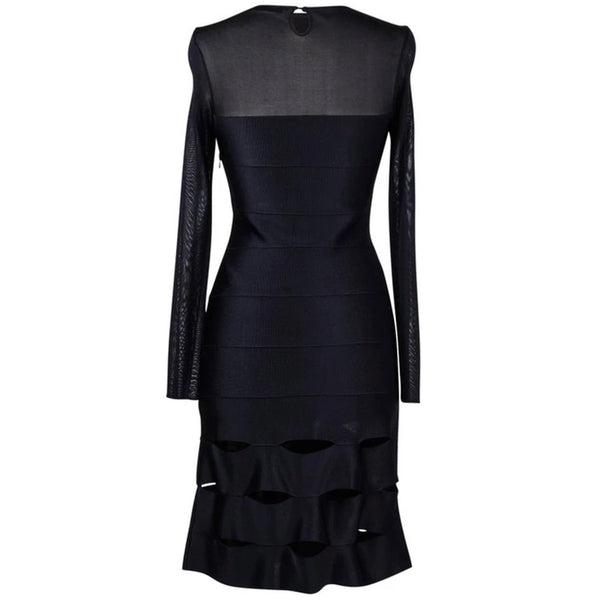 Christian Dior Dress Black Bandage and Mesh 40 / 8