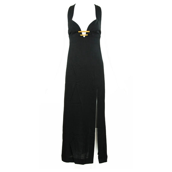Christian Lacroix Black Dress with Gold Hardware