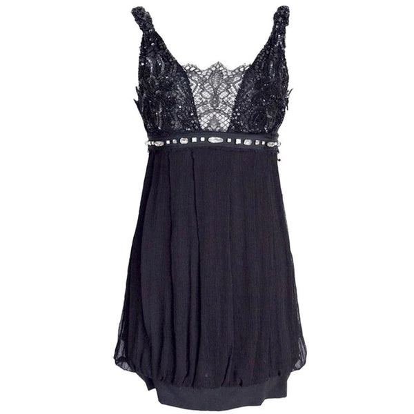 Collette Dinnigan Dress Lace Beading Stones S new