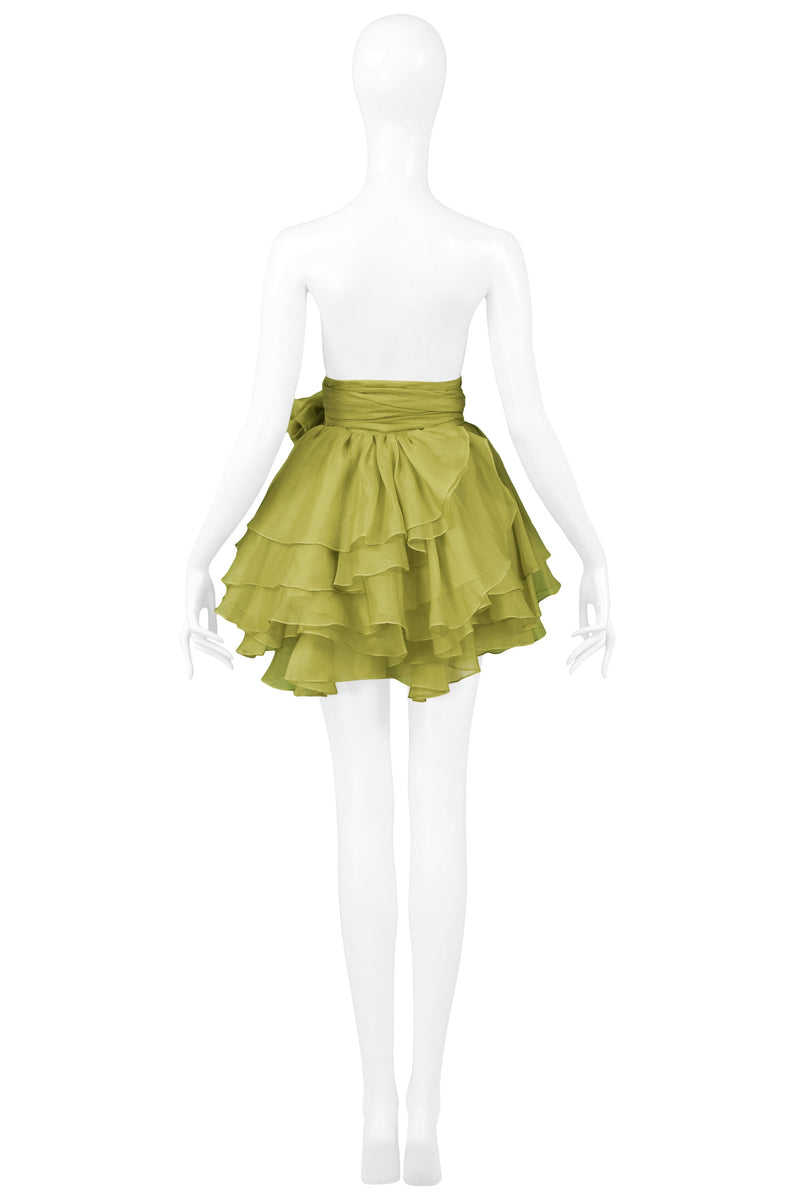 COMPLICE GREEN POUF TIE SKIRT