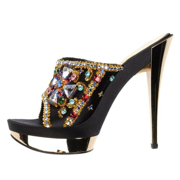 "Casadei ""CRYSTAL LOVERS"" Limited Edition Platform Sandals"