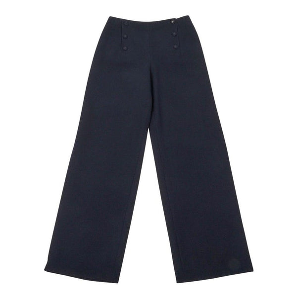 Chanel 97A Pant Navy Sailor Influence Wool 42 / 10