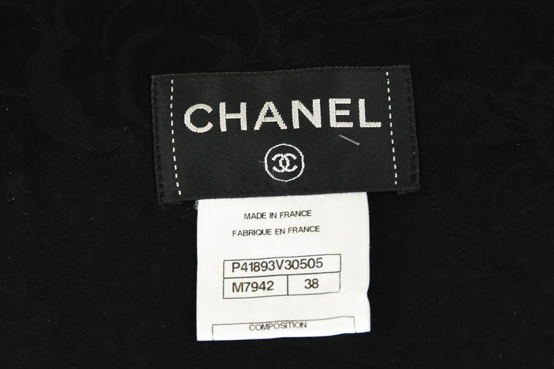 Chanel Black & Gold A-line Dress with Three Quarter Sleeves