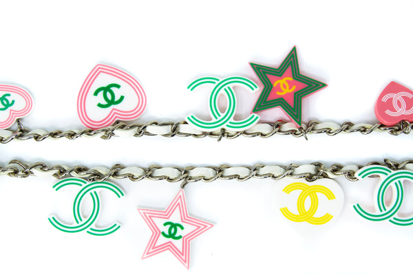 Chanel Colorful Logo Charms Necklace