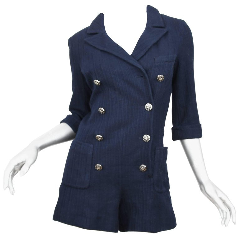 Chanel Navy Double Breasted Romper