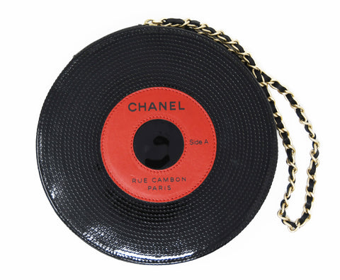 Chanel Vinyl Record Clutch