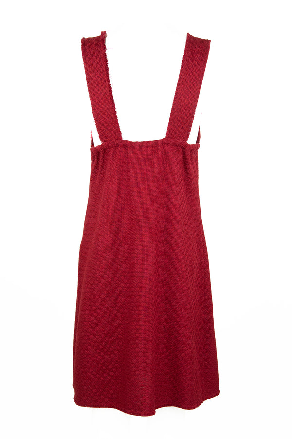Chanel Red Tweed Sleeveless Dress
