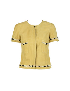 Chanel Tan Suede Top - Size FR 38