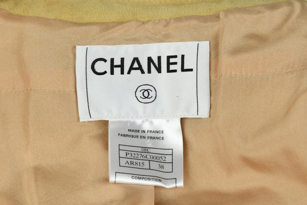 Chanel Tan Suede Top