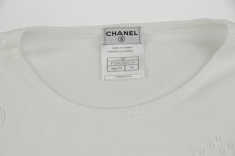 Chanel White Knit Top