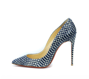 Christian Louboutin Pigalle Follies 120Mm Watersnake Rocaille - Size 36.5