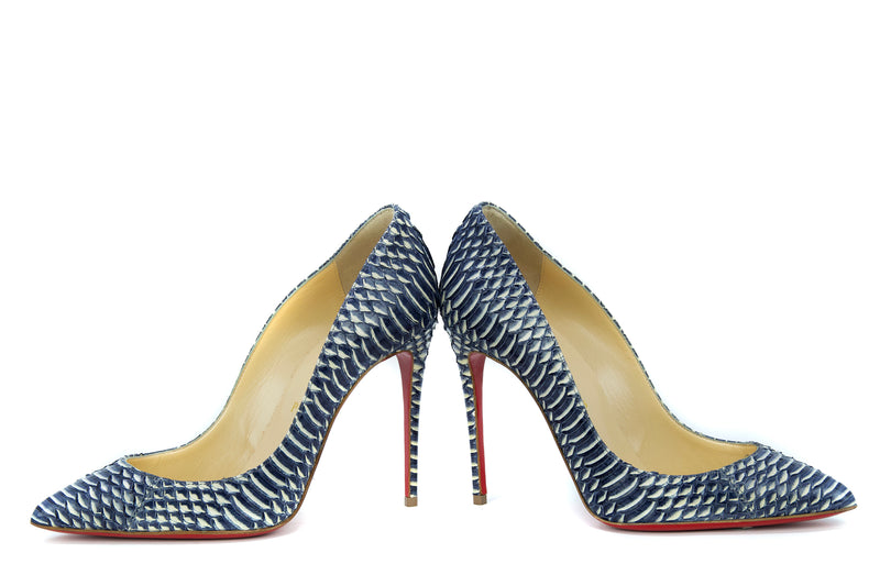 Christian Louboutin Pigalle Follies 120Mm Watersnake Rocaille