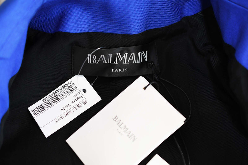 Balmain Cobalt Double Breasted Blazer