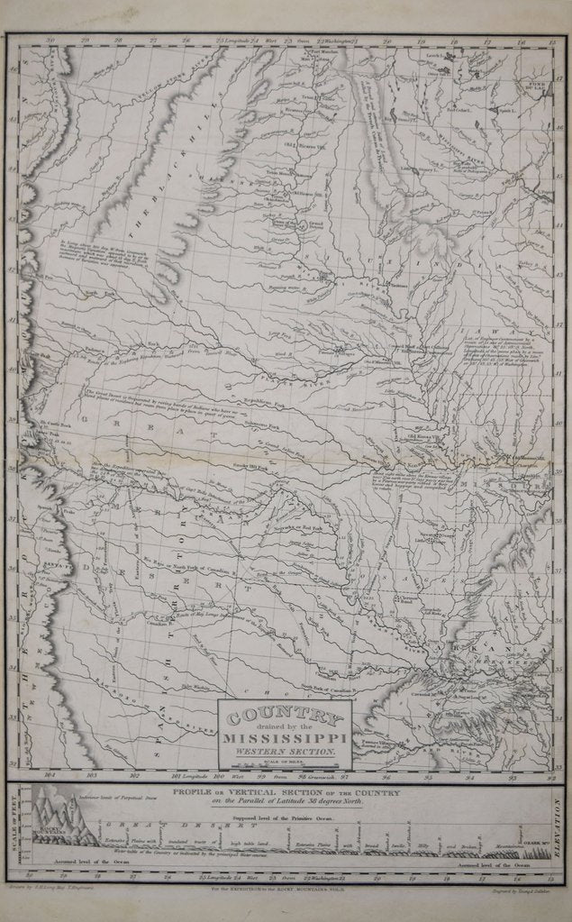 STEPHEN H. LONG, COUNTRY DRAINED BY THE MISSISSIPPI WESTERN SECTION