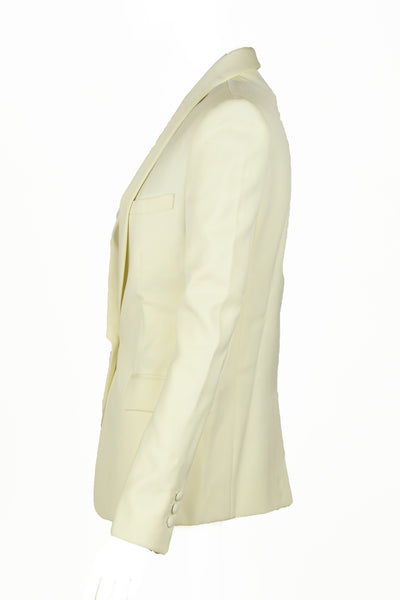 Balmain Off White Shawl Collar Blazer
