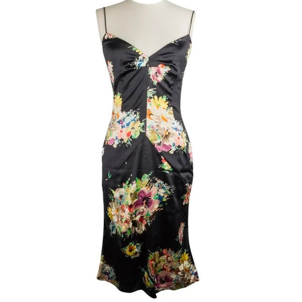 Dolce&Gabbana Dress Floral Print w/ Shawl 44 / 8 New