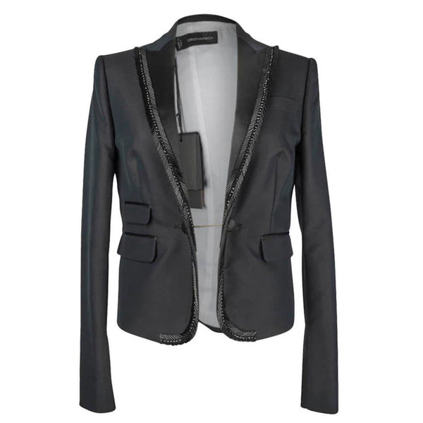 DSquared2 Jacket Tuxedo Bugle Beads Superb Rear Detail 44