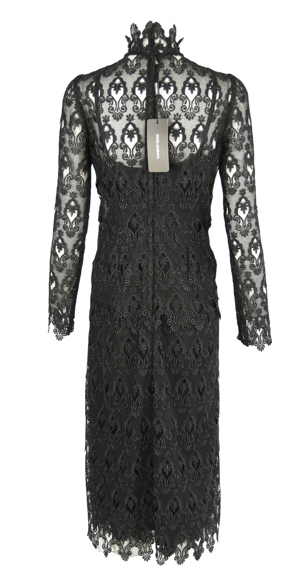 Dolce & Gabbana Black Lace Sheath Dress