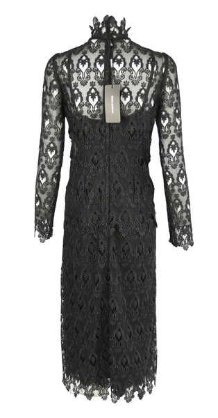 Dolce & Gabbana Black Lace Sheath Dress - Size IT 40