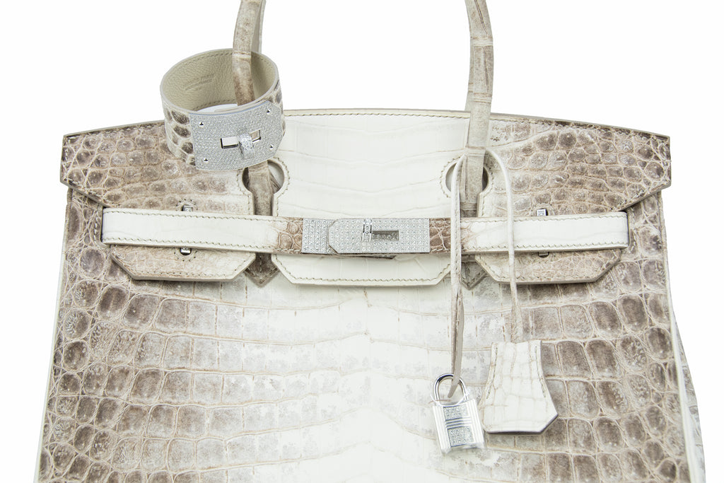 78a7c75348 ... Hermès Birkin Bag 30cm Himalayan Crocodile with Diamond Encrusted  Hardware and Kelly GM Himalayan Diamond Bracelet ...